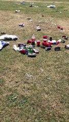 Large gatherings trash Milton Keynes beauty spot