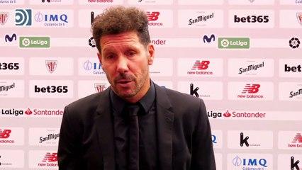 """Simeone describe el partido contra el Athletic como """"duro"""""""