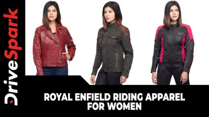 Royal Enfield Riding Apparel For Women | Range, Price, Availability & Other Details