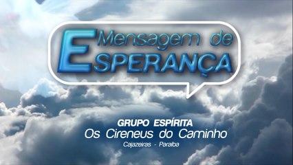 MENSAGEM DE ESPERANÇA 29/05/2020