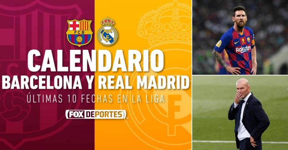Calendario restante del Barcelona y Real Madrid en La Liga 2019/20