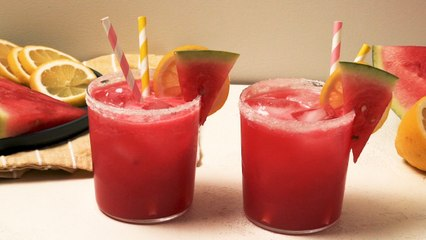 This Spiked Watermelon Lemonade Epitomizes Summer