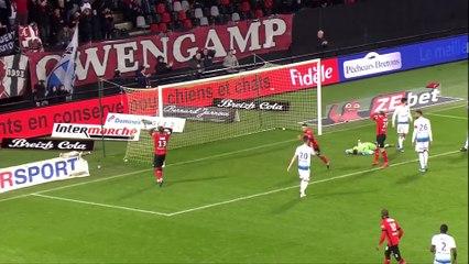 J22 EA Guingamp - AJ Auxerre ( 1-0 ) - Résumé - (EAG - AJA)   2019-20 (2)
