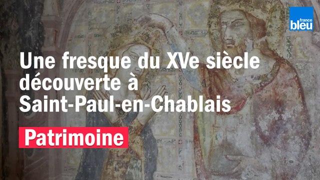 Une fresque du XVe siècle découverte à Saint-Paul-en-Chablais (Haute-Savoie)