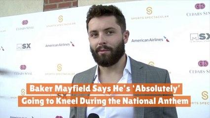 Baker Mayfield Joins In Kneeling