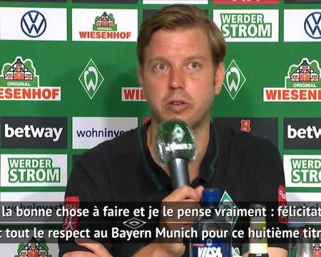 32e j. - Les entraîneurs du Werder et de l'Union félicitent le Bayern