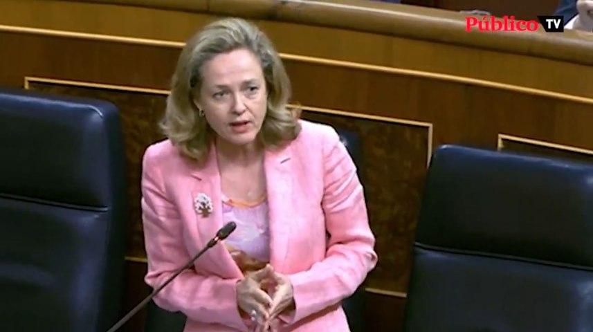 El repaso de Nadia Calviño a Espinosa de los Monteros en el Congreso de los Diputados