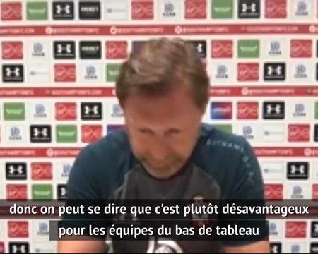 """Southampton - Hasenhüttl : """"Les petites équipes sont désavantagées par les matches à huis clos"""""""