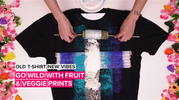 Old T-Shirt New Vibes: Fruit and veggie prints for days