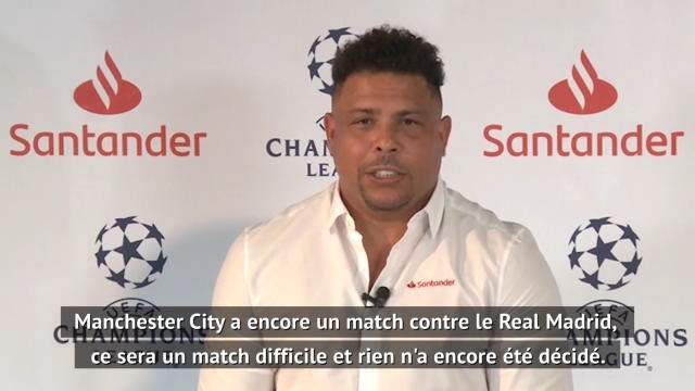 "LdC - Ronaldo : ""Manchester City a encore un match difficile contre le Real Madrid"""