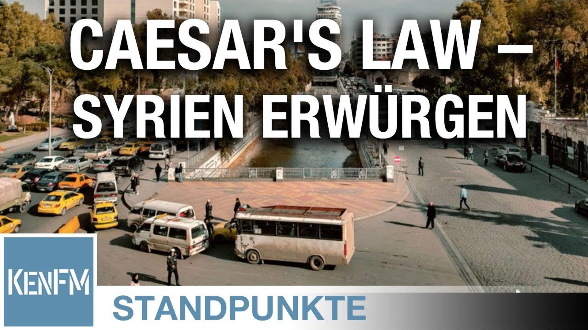 Caesar's Law – Syrien erwürgen • STANDPUNKTE