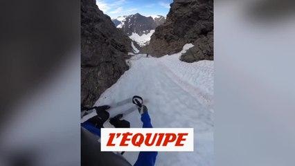 Kilian Jornet descend la Trollstigen - Adrénaline - Ski freeride