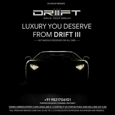 Buy Premium Cars at Massive Discounts | DRIFT III | Luxury You Deserve From DRIFTIII | Motion Poster