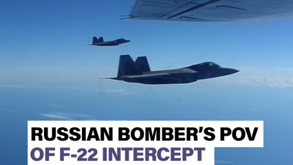 See Russians' POV as U.S. F-22s intercept their bomber