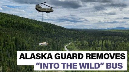 """Into the Wild"" bus removed by Alaska Guard"