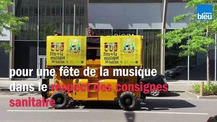 À Metz, des DJ's sur des nacelles élévatrices pour fêter la musique malgré les consignes sanitaires