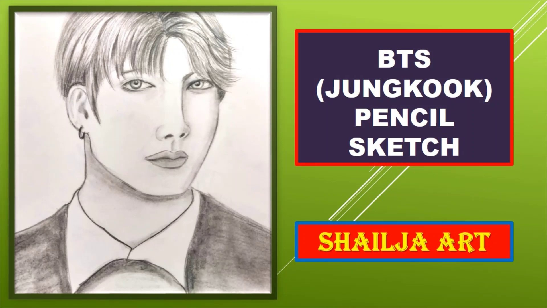 How To Draw Bts Jungkook Bts Pencil Sketch Shailja Art Video Dailymotion