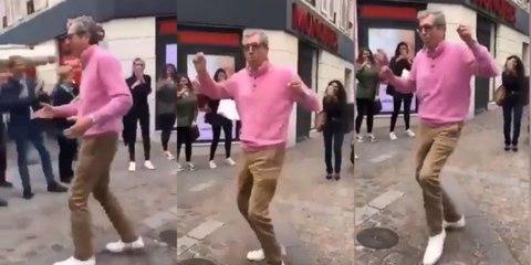 Patrick Balkany danse à la fête de la musique