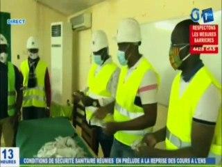 RTG - Remise de kits sanitaires du ministère de l'hygiène aux dirigeants de l'ENS