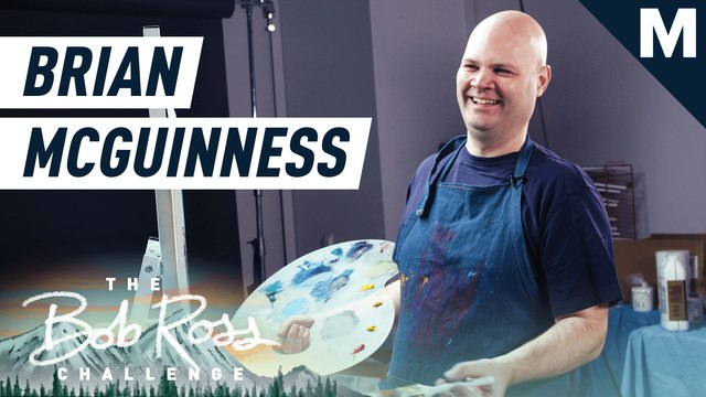 Comedian Brian McGuinness paints a fairy forest — The Bob Ross Challenge
