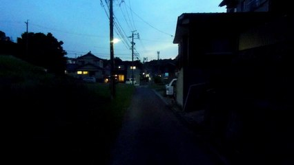 After Sunset Walk in Japan