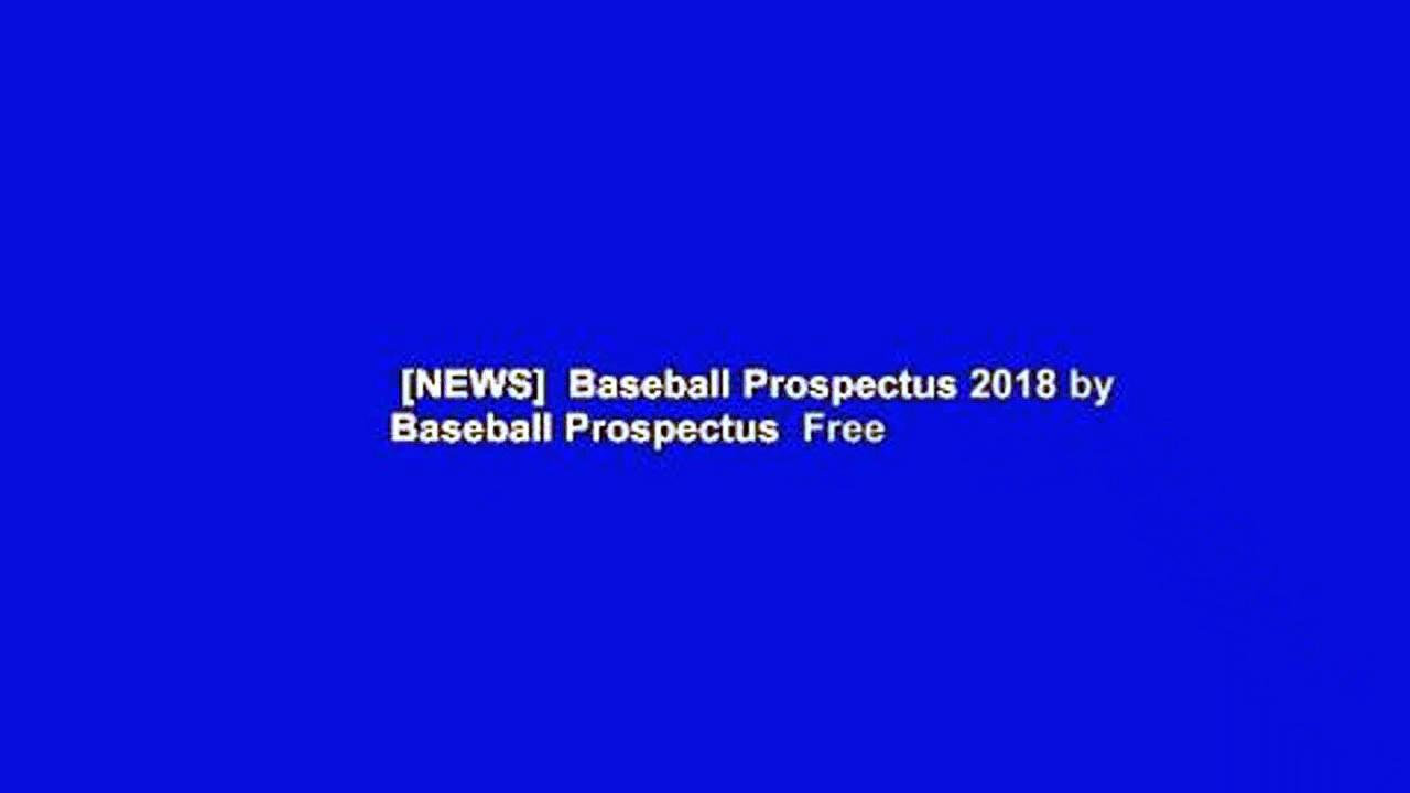 [NEWS]  Baseball Prospectus 2018 by Baseball Prospectus  Free