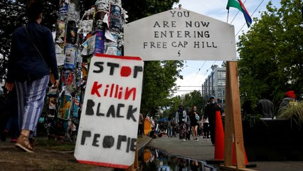 Inside the Seattle anti-racism protest zone after weekend's deadly shooting