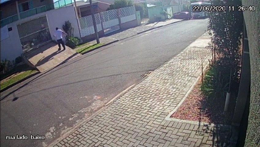 Após não conseguir chutar animal, homem saca arma e mata cachorrinho; veja o vídeo