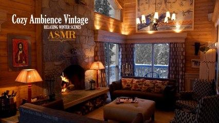 Cozy Cottage Vintage | ASMR | Relaxing Winter Scenes