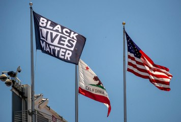 49ers Fly Black Lives Matter Flag at Levi's Stadium