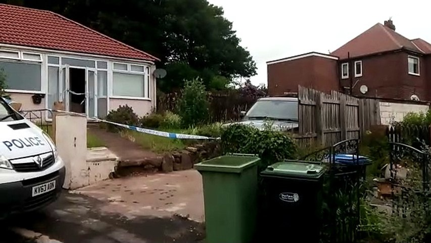 Police cordon off house in Rosedale Terrace, Peterlee