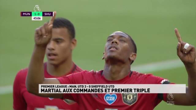 Anthony Martial porte Manchester United avec son triplé