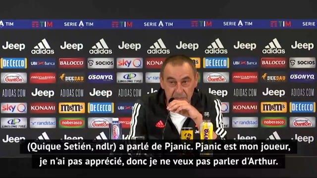 """Transferts - Sarri remet Setién à sa place : """"Je n'ai pas apprécié qu'il parle de Pjanic"""""""