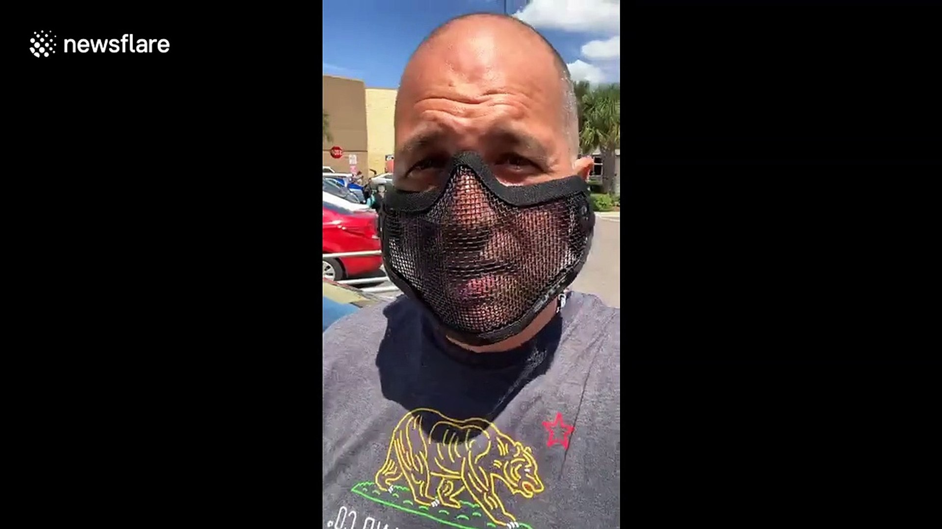 Man Wears A Mesh Face Mask To Prove Mandatory Masks In Florida Is Not About Protection But Compliance Video Dailymotion