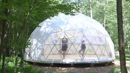 There's a giant geodesic dome in upstate New York — and you can rent it for the night