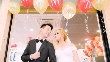 This Couple Tied the Knot in a Cute and Simple Celebration in a Fast-food Resto