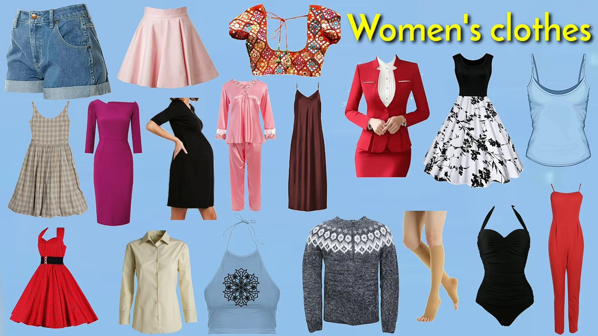 Clothes vocabulary _ Clothes in english _ Women's clothes vocabulary _ Easy engl
