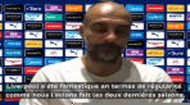 """31e j. - Guardiola : """"Liverpool a été fantastique"""""""