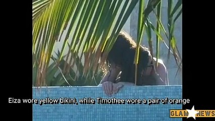 Timothee Chalamet & Eiza Gonzalez Get Steamy in the Pool Together Amid Mexican Getaway