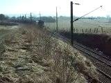 13.02.2008 La BB 27343  à Frasne avec une rame d'essais