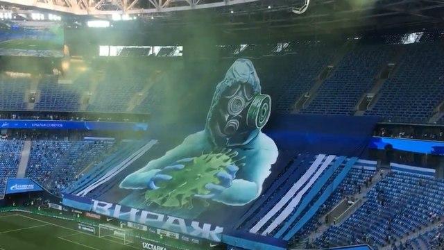 L'incroyable tifo déployé par les supporters du Zénith Saint-Pétersbourg