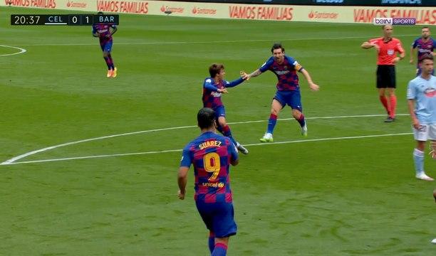 FC Barcelone : Le coup franc surprise de Messi pour Suarez