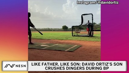 Like Father, Like Son: David Ortiz's Son Crushes Dingers At Batting Practice