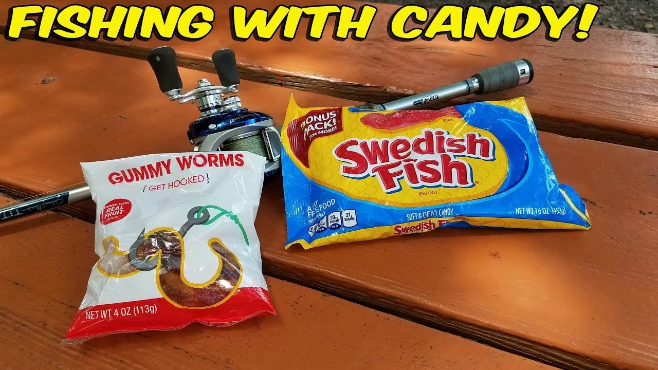 Fishing with candy!!!