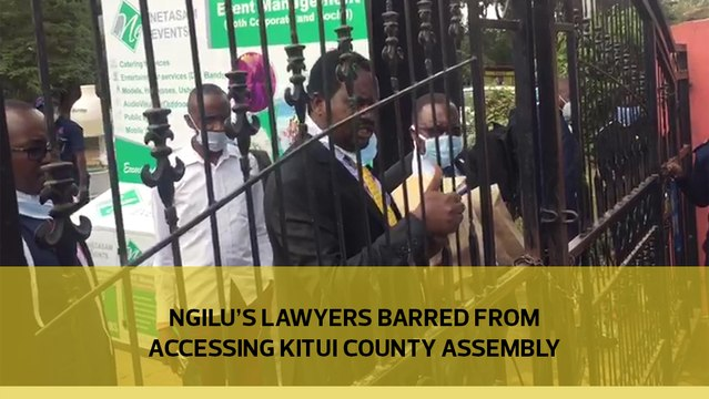 Ngilu's lawyers barred from accessing Kitui County Assembly