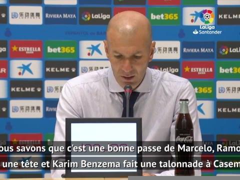 """32e j. - Zidane : """"Benzema peut inventer quelque chose à partir de rien"""""""