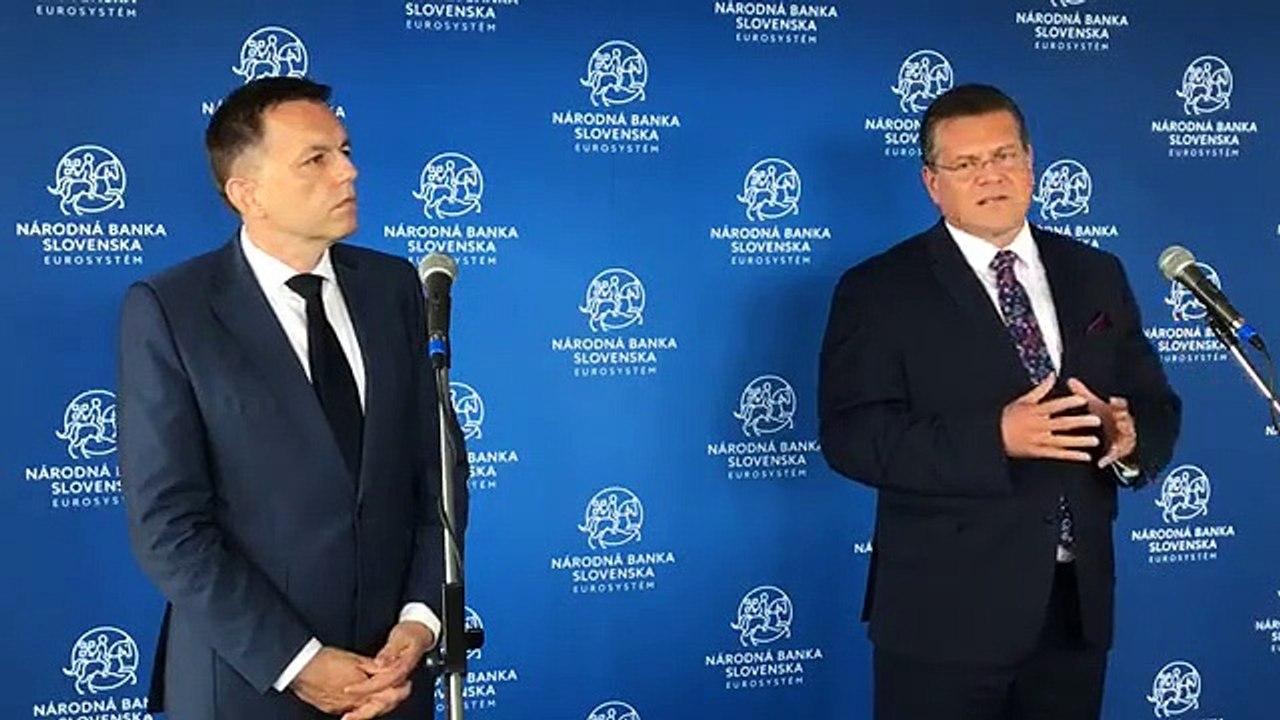 ZÁZNAM: TK guvernéra NBS P. Kažimíra a podpredsedu EK M. Šefčoviča
