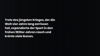 Wer waren die Sportstars vor 100 Jahren?