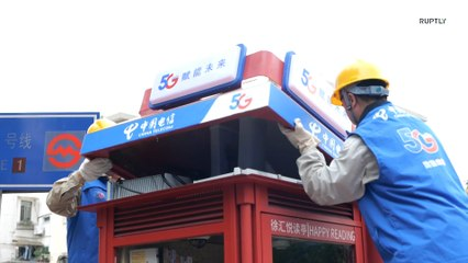 Shanghai brings public phone booths back to life as mini 5G base stations