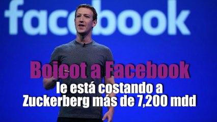 Boicot a Facebook le está costando a Zuckerberg más de 7,200 mdd
